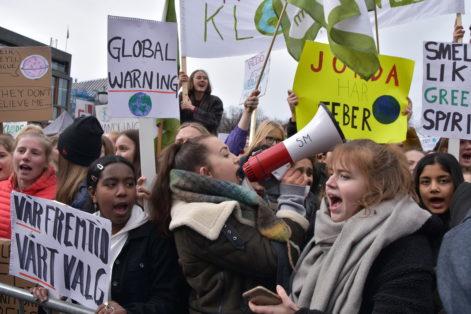 Ungdom på klimastreik